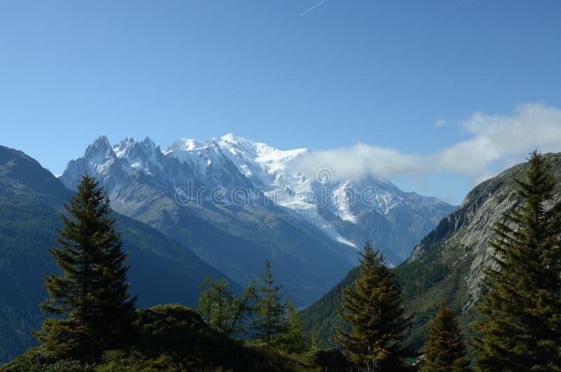 Vue vers Mont Blanc image stock