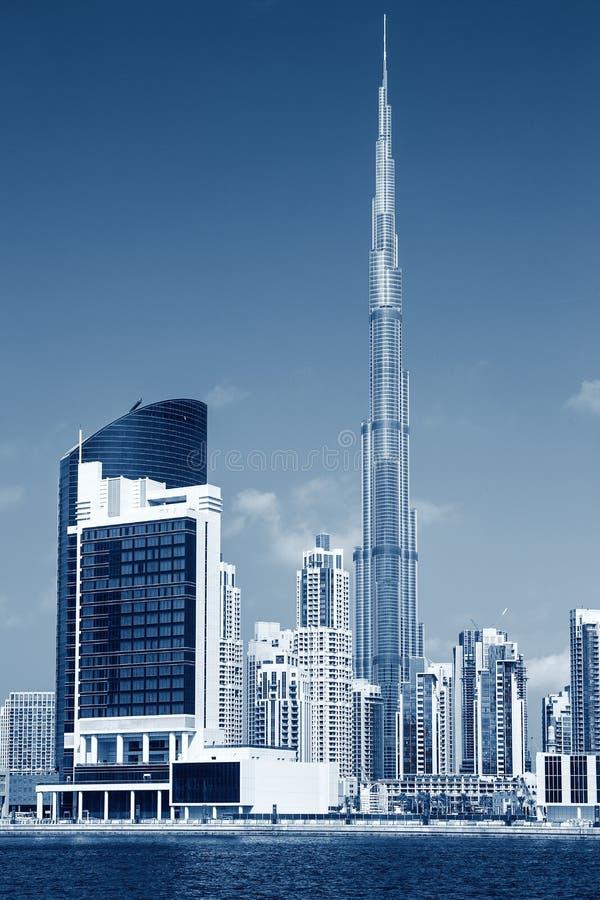 Vue verticale d'horizon de Dubaï, développement photographique spécial images libres de droits