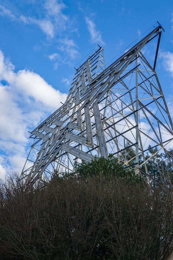 Vue verticale de l'étoile de Roanoke, Roanoke, la Virginie, Etats-Unis image libre de droits