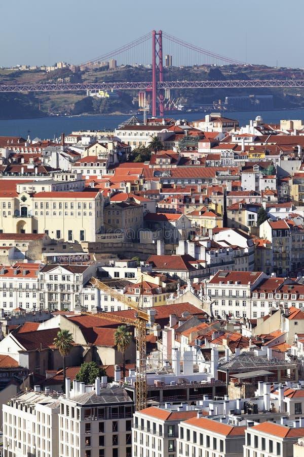 Vue verticale de Lisbonne image libre de droits