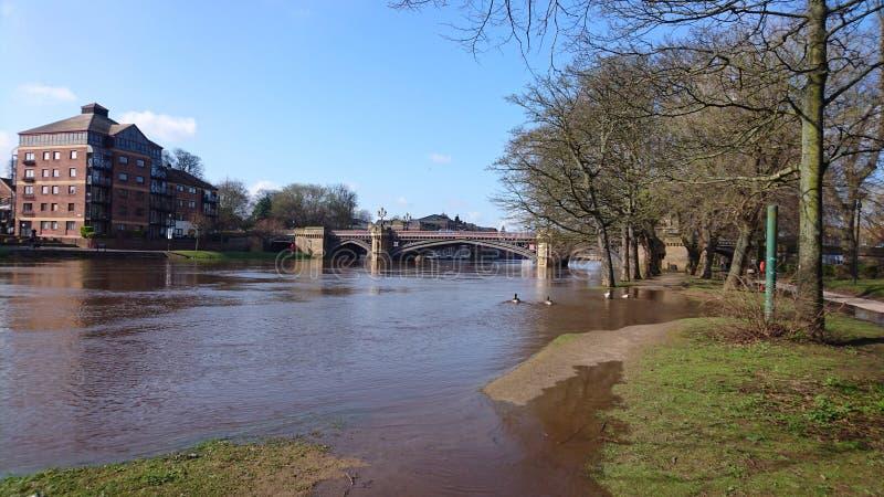 Vue York Yorkshire Angleterre R-U d'Ouse de rivière image libre de droits