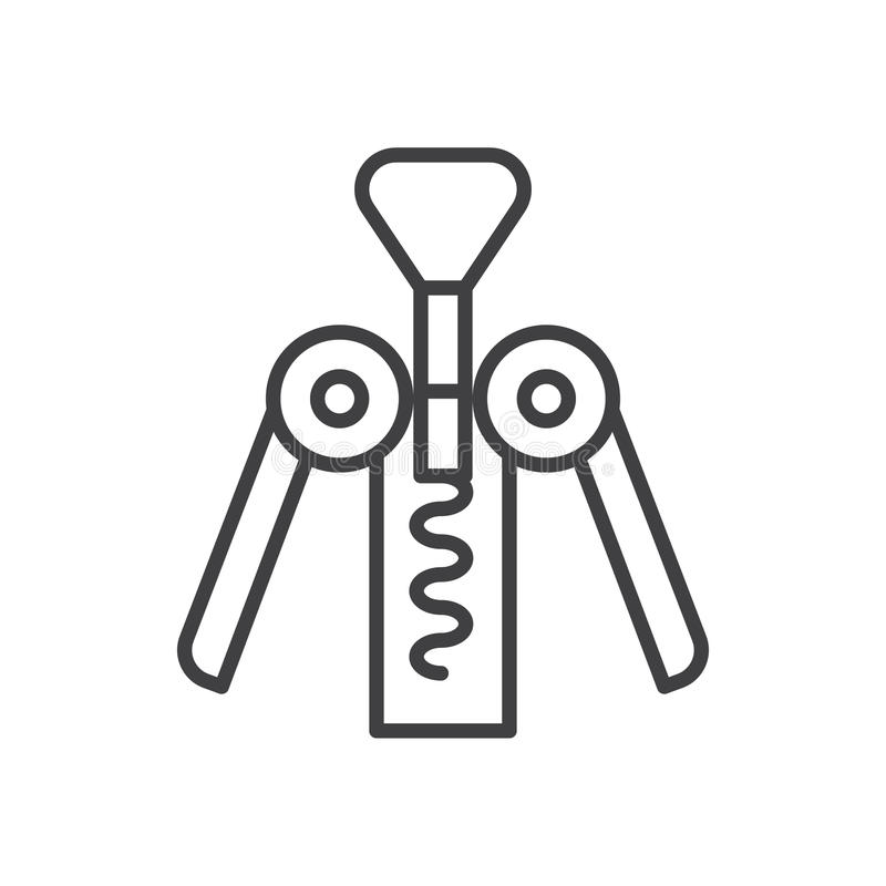 Vuele en espiral la línea icono, muestra del vector del esquema, pictograma linear del estilo aislado en blanco stock de ilustración