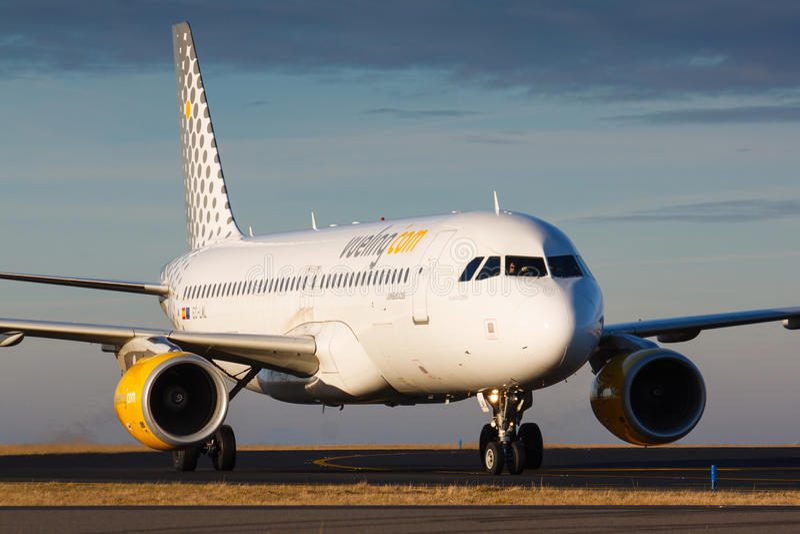 A320 Vueling imagens de stock