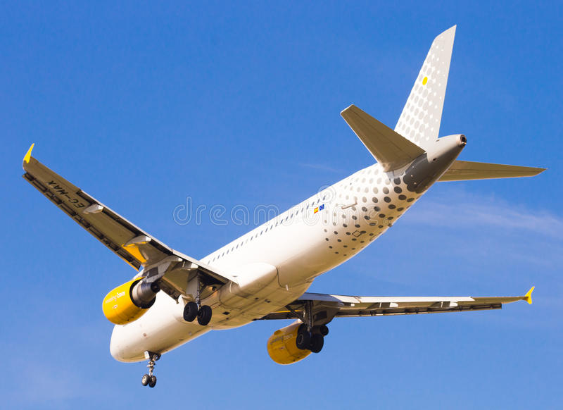 Vueling Airlines-Flächenlandung stockbild
