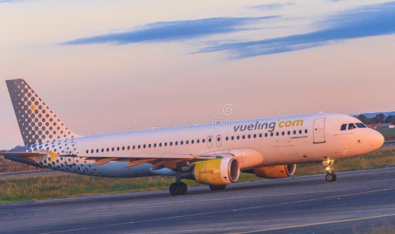VUELING Com-luchtvaartlijnen stock afbeelding