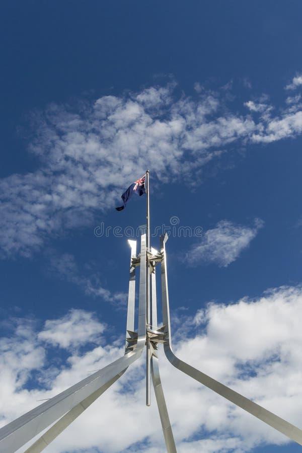Vuelo australiano de la bandera foto de archivo libre de regalías