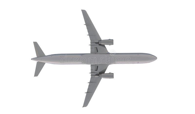 Vuelo de Airbus a321 del pasajero en las nubes ilustración del vector