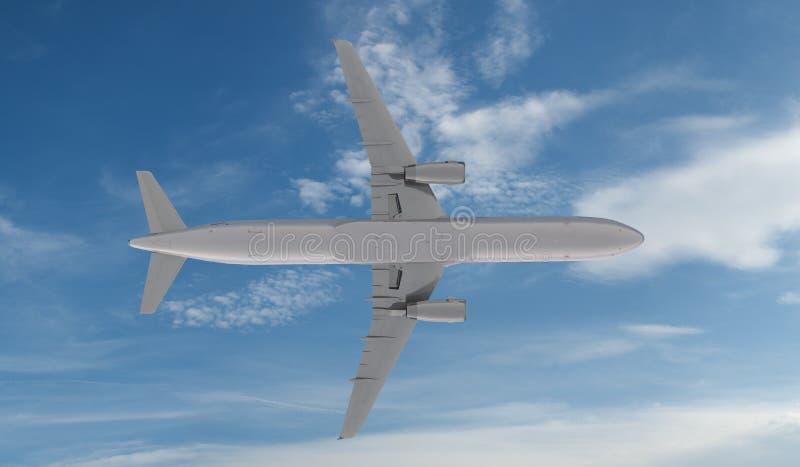 Vuelo de Airbus a321 del pasajero en las nubes libre illustration