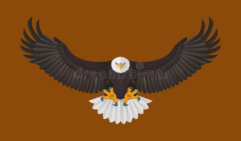 Vuelo de Eagle calvo, ejemplo del vector libre illustration