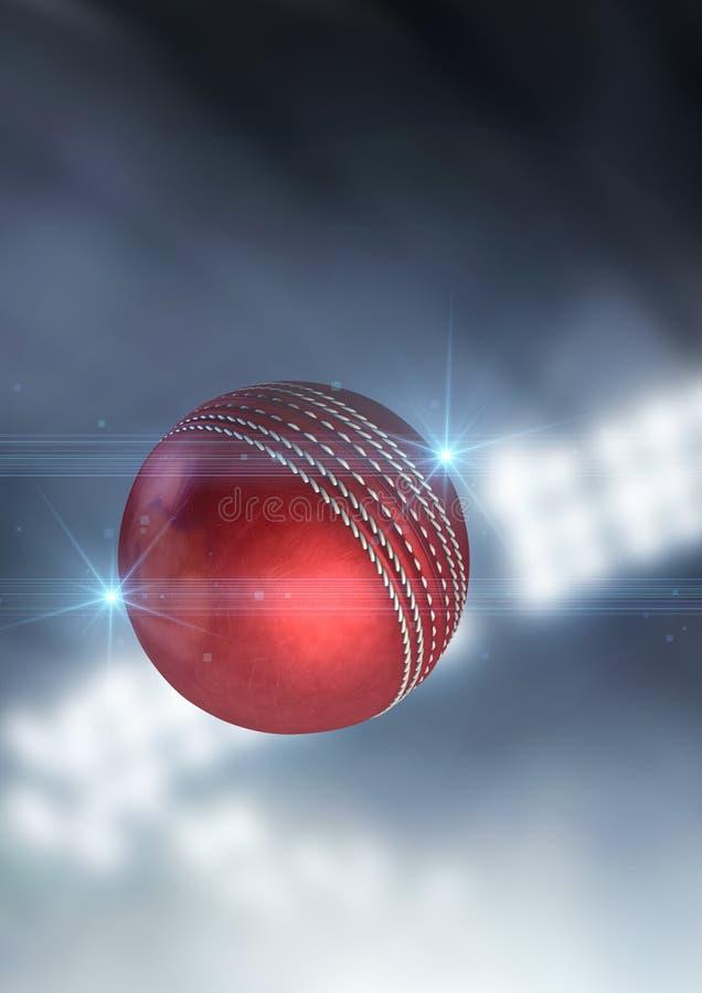 Vuelo de la bola a través del aire ilustración del vector