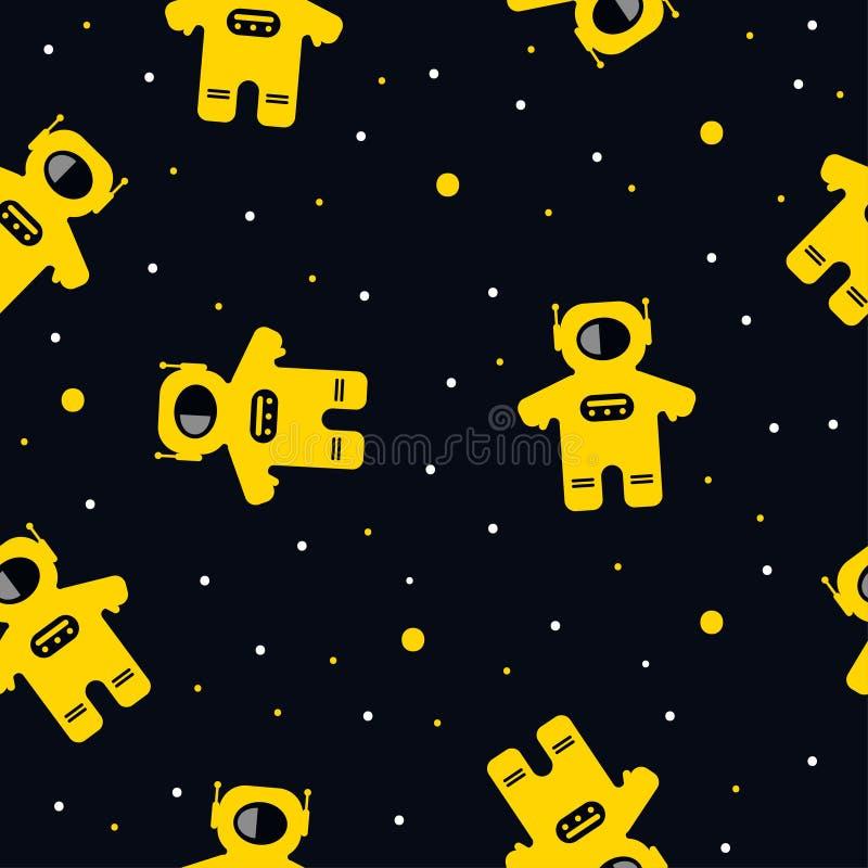 Vuelo del astronauta en espacio libre illustration