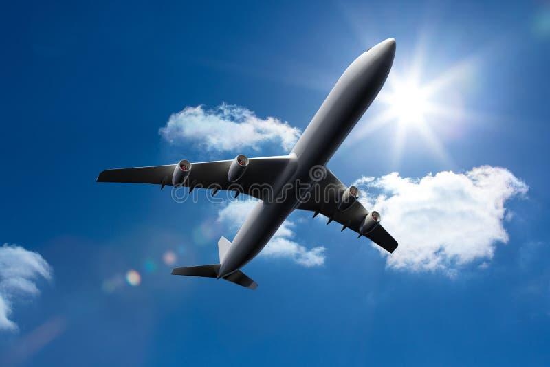 vuelo del avión 3D en el cielo libre illustration
