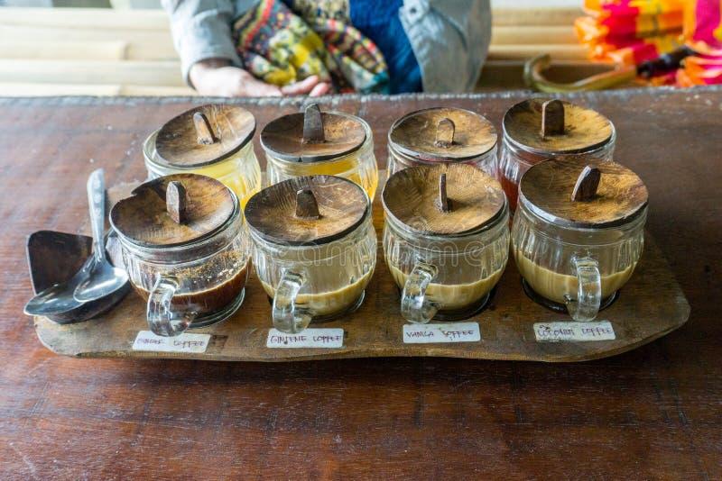 Vuelo del café en Bali imagen de archivo libre de regalías