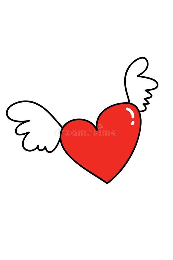Vuelo del corazón foto de archivo libre de regalías