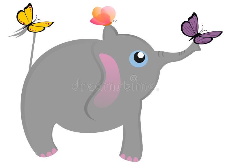 Vuelo del elefante stock de ilustración