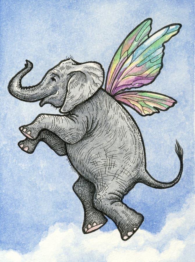 Vuelo del elefante imágenes de archivo libres de regalías