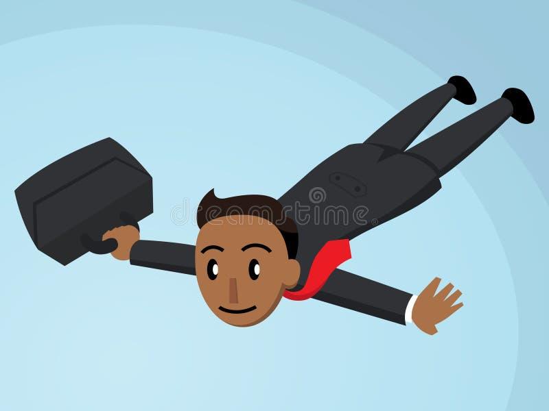 Vuelo del hombre de negocios con la cartera Tan Version libre illustration