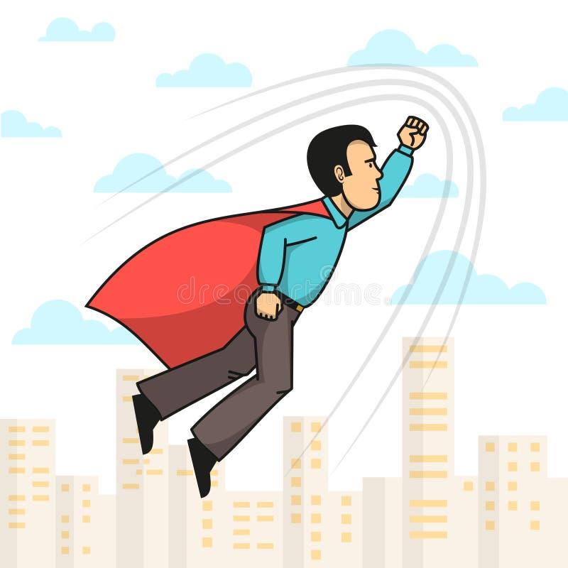 Vuelo del hombre del super héroe libre illustration