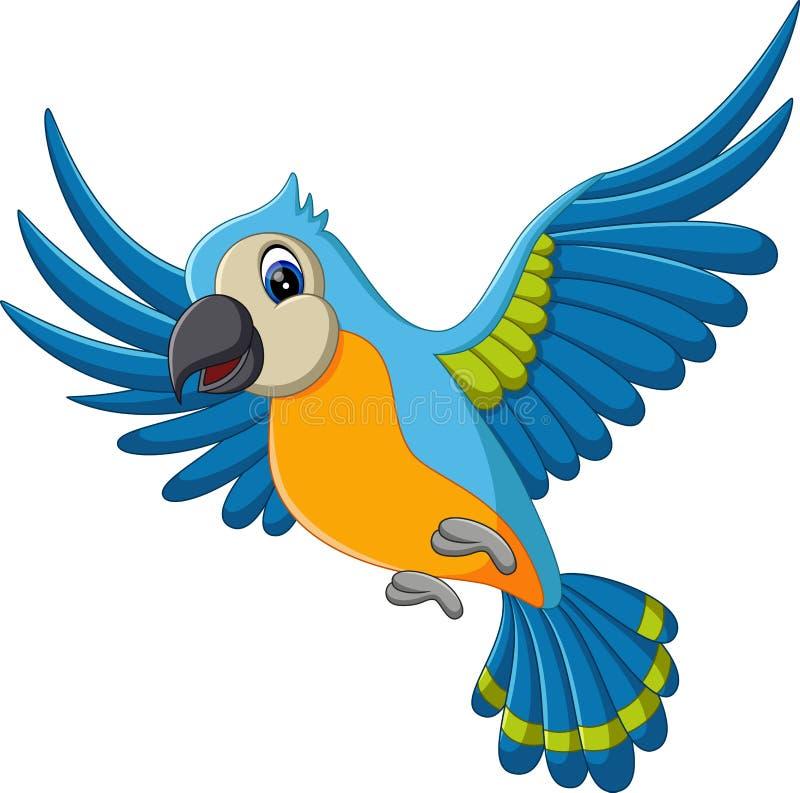 Vuelo del macaw de la historieta libre illustration