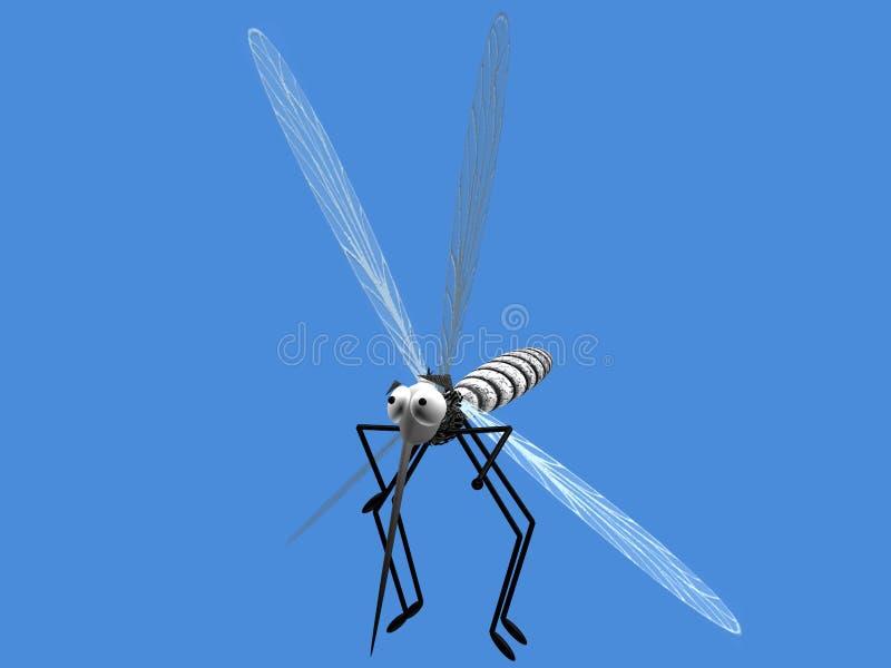 Vuelo del mosquito foto de archivo