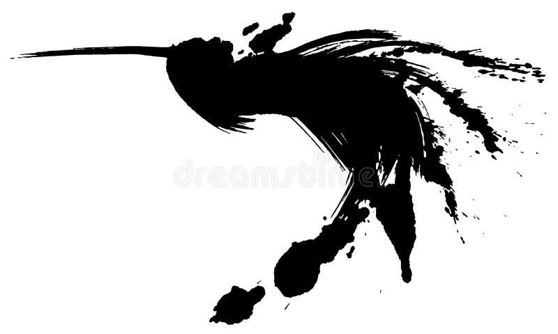 Vuelo del pájaro Ilustración drenada mano ilustración del vector