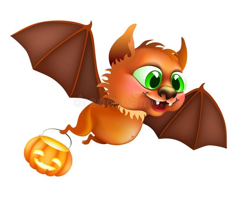 Vuelo del palo de Halloween stock de ilustración