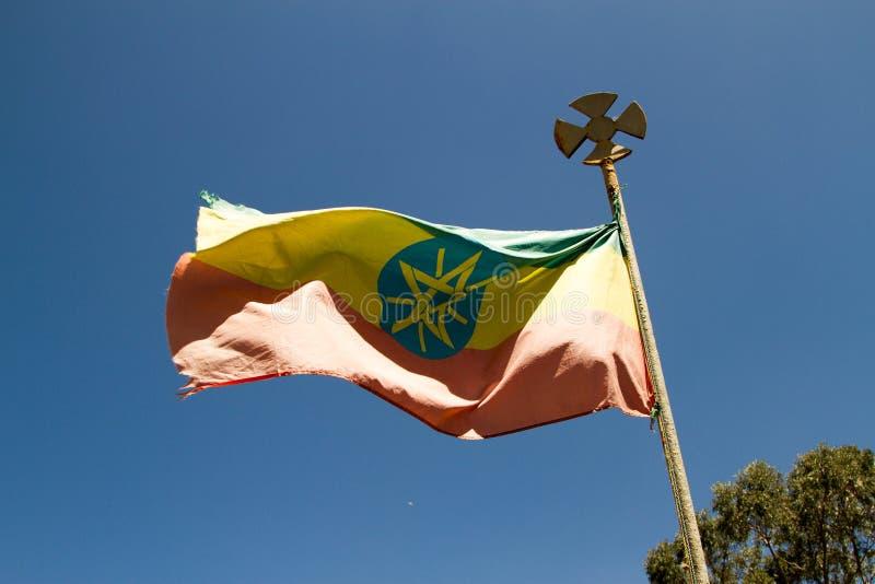 Vuelo etíope de la bandera imagen de archivo