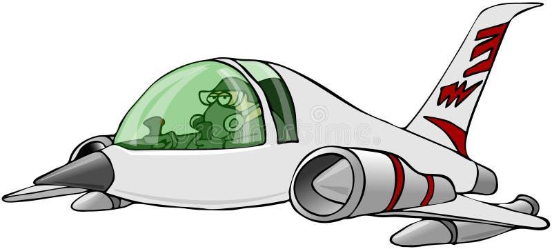 Vuelo experimental un jet libre illustration