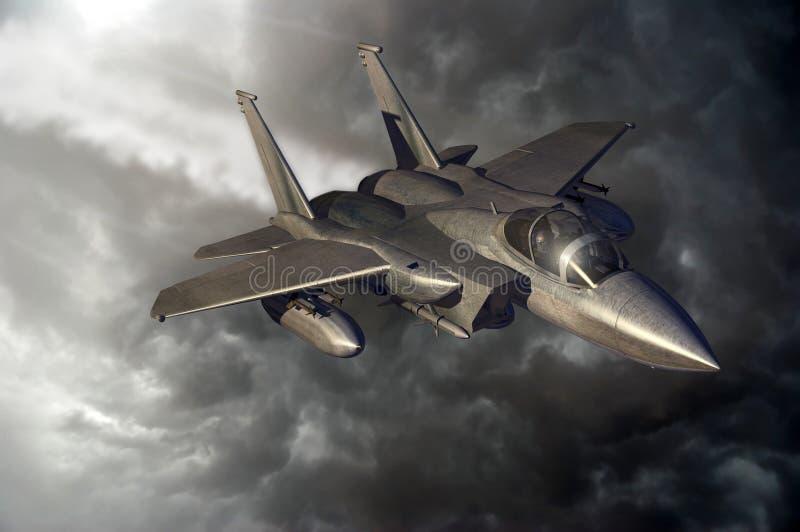 Vuelo F15 stock de ilustración