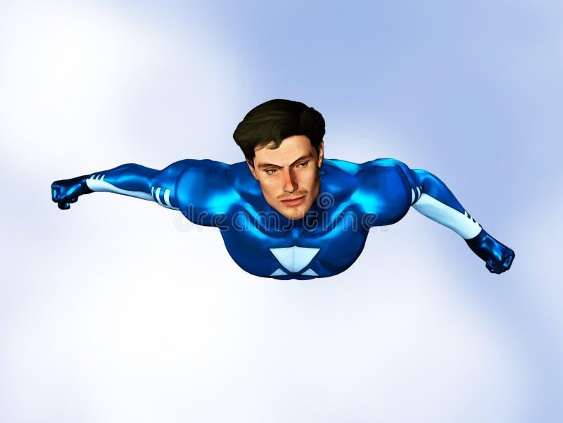 Vuelo masculino del super héroe libre illustration