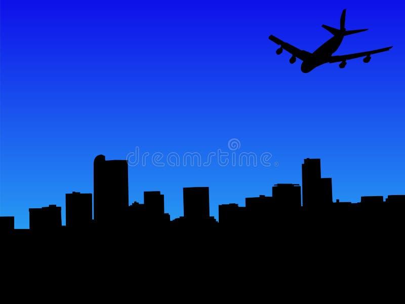Vuelo plano a Denver ilustración del vector