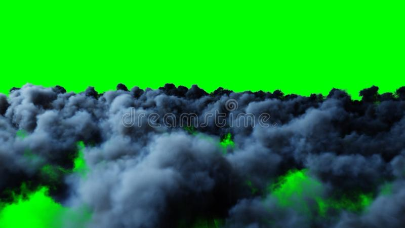 Vuelo sobre las nubes aislante representación 3d libre illustration