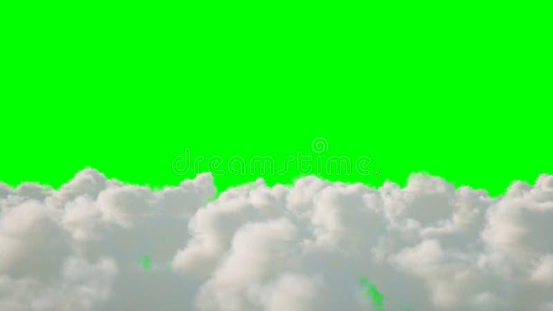 Vuelo sobre las nubes aislante representación 3d stock de ilustración