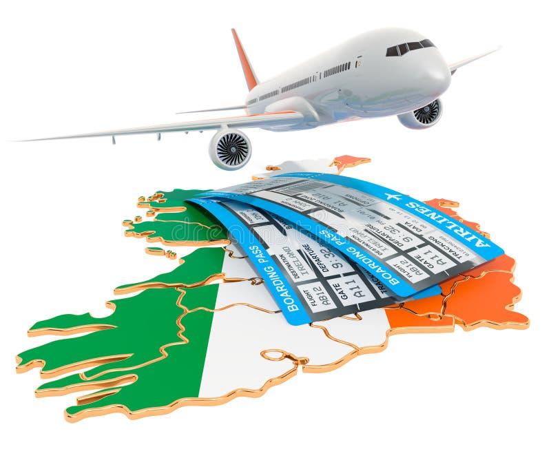 Vuelos al concepto de Irlanda representaci?n 3d libre illustration