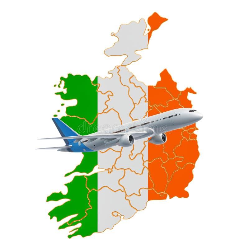 Vuelos a Irlanda, concepto del viaje representaci?n 3d libre illustration