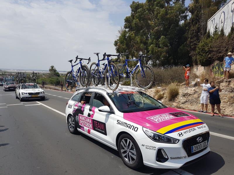 Vuelta della La un España 2017 fotografie stock libere da diritti