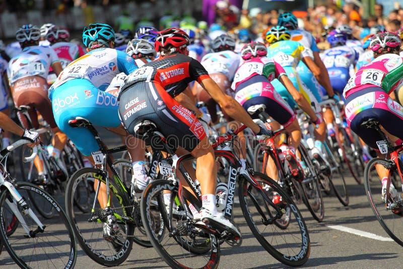Vuelta a España 2010. Last etap of Vuelta a España 19 september 2010 in Madrid stock photo