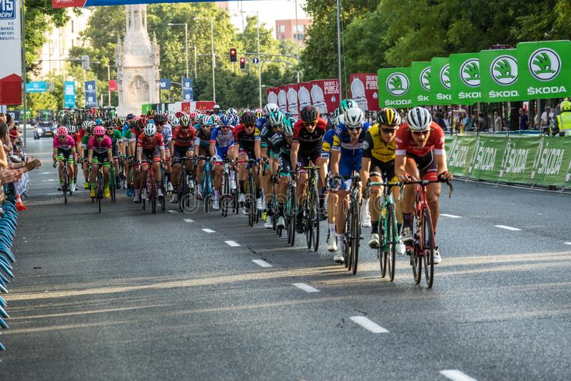 Vuelta un España 2018 imagenes de archivo