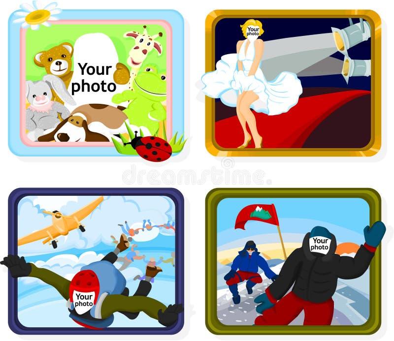 Vues illustration stock