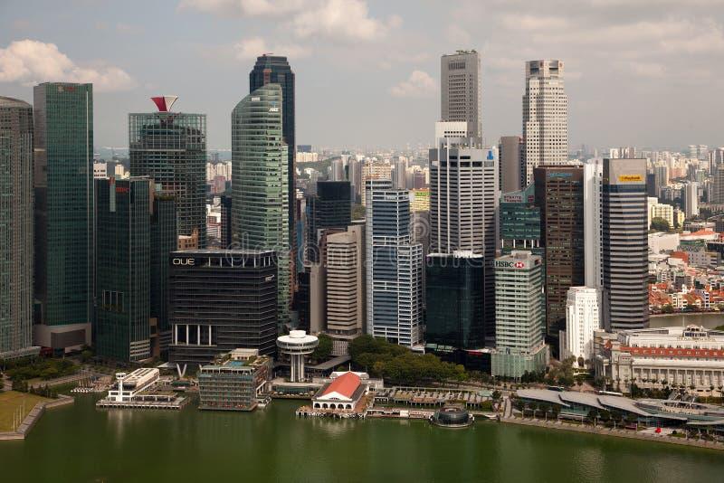 Vues aériennes étonnantes de ville de Singapour photographie stock