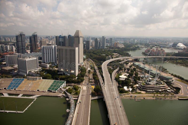 Vues aériennes étonnantes de ville de Singapour image stock