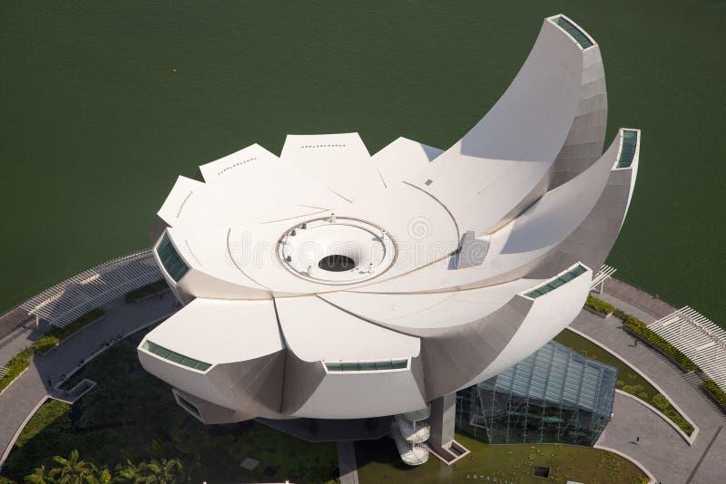 Vues aériennes étonnantes de ville de Singapour photos libres de droits