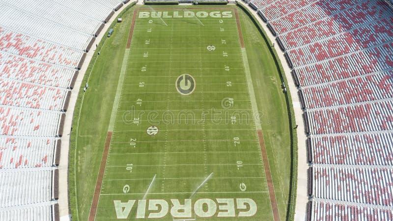 Vues aériennes de Sanford Stadium images libres de droits