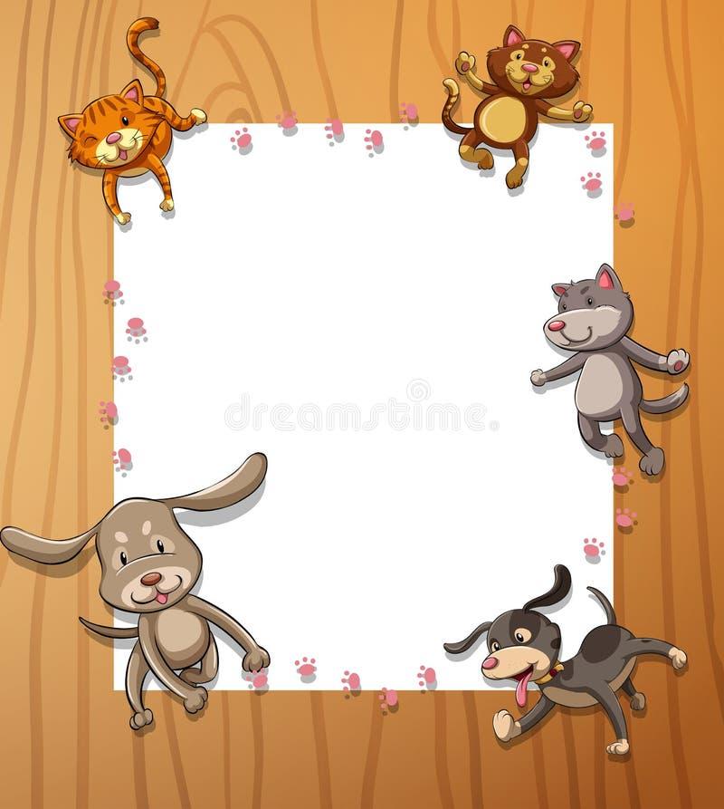 Vues avec des animaux illustration stock