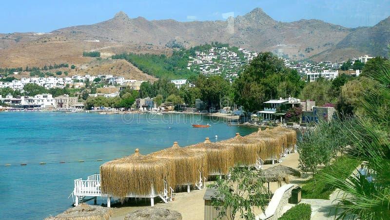 Vues côtières dans Bodrum Turquie images libres de droits