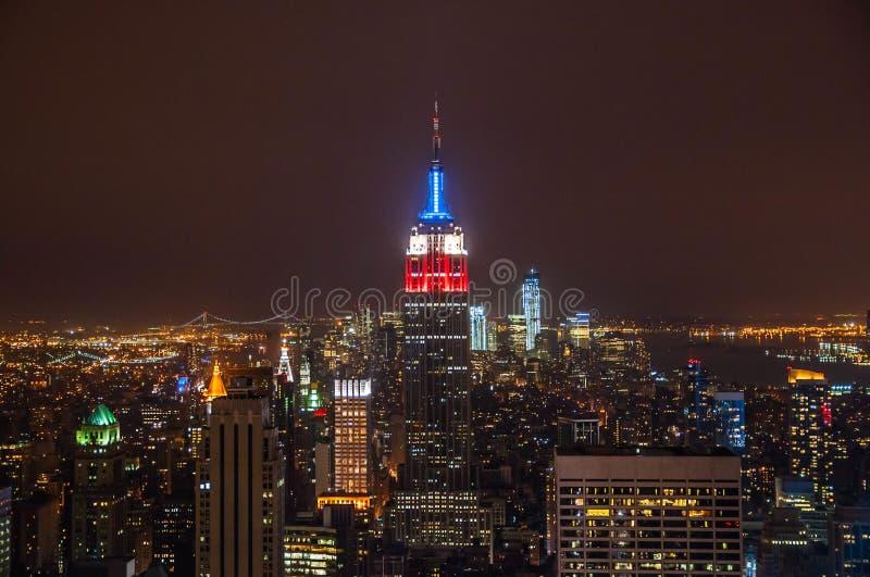 Vues d'état d'empire à Manhattan images libres de droits