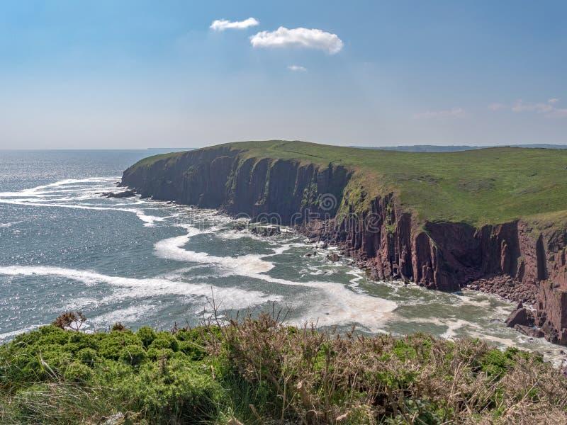 Vues d'île de Caldey images stock