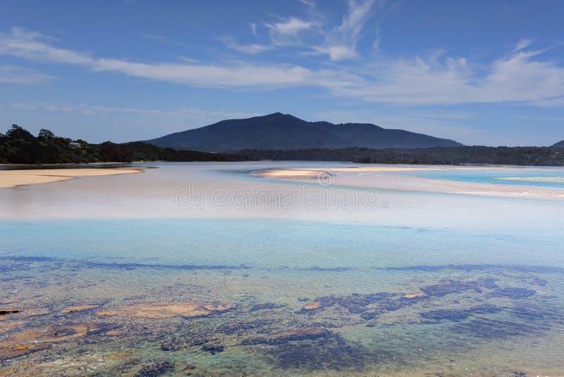 Vues de bouche de Wallaga à l'Australie de Mt Gulaga photographie stock