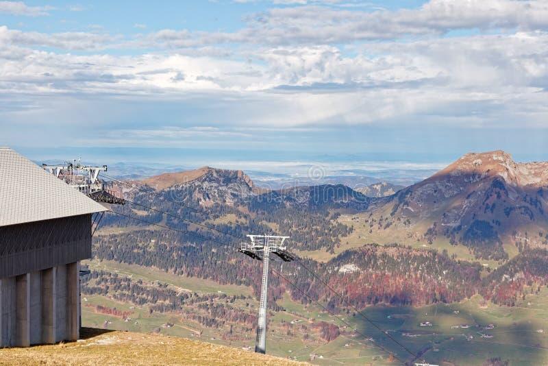 Vues de côté Ouest de massif d'Alpstein photos stock