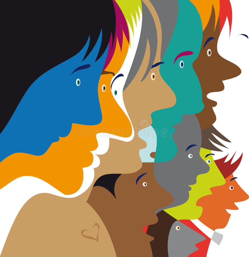 Vues de côté colorées illustration libre de droits